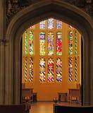 Hampton Court Palace - Gebrandschilderd glasvenster Stock Fotografie