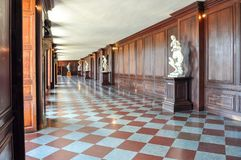 Hampton Court palace interiors, London, UK royalty free stock image