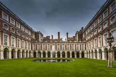Hampton Court Palace Internal Court Royalty Free Stock Image