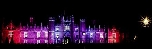Hampton Court Palace na noite Fotografia de Stock