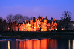 Hampton Court Palace at Night Royalty Free Stock Photo