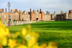 Hampton Court-Palast, Richmond, Großbritannien stockfotografie