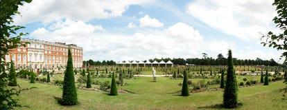 Hampton court panorama stock photography