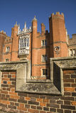 Hampton Court through ramparts Stock Photo
