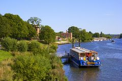 Hampton Court and river Thames Stock Photos
