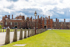 Hampton Court in summer day Stock Photography