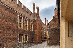 Hampton Court in summer day Royalty Free Stock Photography