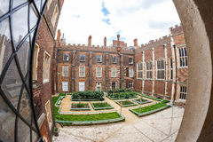 Hampton Court in summer day Stock Photo