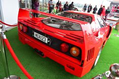 Classic Ferrari F40 on display at Ferrari Challenge Asia Pacific Series race on April 15, 2018 in Hampton Downs Royalty Free Stock Photography