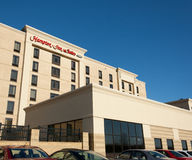 Hampton Inn. DARTMOUTH, CANADA - MARCH 19, 2014: Hampton Inn is currently the largest franchise in the United States. Trademarked by Hilton, the hotel brands Royalty Free Stock Photography