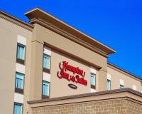 Hampton Inn & Suites Exterior. Truro, Canada - February 12, 2019: Hampton Inn & Suites exterior. Trademarked by Hilton, the hotel chain operates under several stock photo