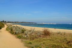 Hampton plaża Obrazy Stock