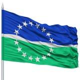 Hampton Roads City Flag sur le mât de drapeau, Etats-Unis Photo libre de droits