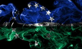 Hampton Roads city smoke flag, Virginia State, United States Of. America Royalty Free Stock Photo