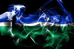 Hampton Roads-de vlag van de stadsrook, Virginia State, Verenigde Staten van stock illustratie