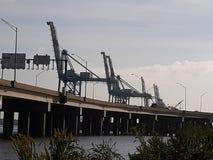 Hampton Roads-gebiedswegkant stock afbeelding