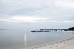 Hampton Virginia Waterfront Pier et plage Photographie stock libre de droits