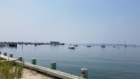 Hamptons lat hamnstad royaltyfria foton