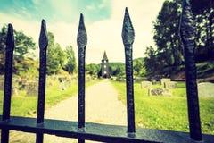 Hamre-Kirche, Insel Osteroy Norwegen Stockfotos