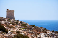 Hamrija-Turm, Qrendi, Malta Lizenzfreie Stockfotos