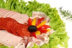 Hams and salamis Royalty Free Stock Photos