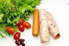 Hams and sausage Stock Photography