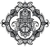 Hamsa нарисованное рукой Стоковые Фотографии RF