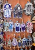 Hamsa - amuleto palma-formado tradicional Imagen de archivo libre de regalías