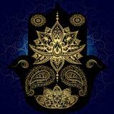 Hamsa - bescherming tegen het kwade oog, idee voor een tatoegering Stock Afbeeldingen