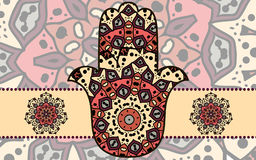 Hamsa card Royalty Free Stock Image
