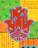 Hamsa colorido Imagen de archivo libre de regalías