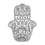 Hamsa da garatuja do vetor Fotos de Stock Royalty Free