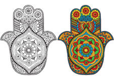 Hamsa decorated with patterns Royalty Free Stock Photography