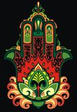 Hamsa with ethnic ornaments Royalty Free Stock Image