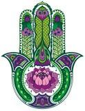 Hamsa hand stock illustrationer