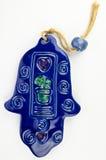 Hamsa hand amulet. Used to ward off the evil eye - ceramic wall decoration Stock Photos