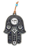 Hamsa. Hand amulet isolated on white Stock Photography
