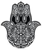 Hamsa hand. Black and white hamsa hand Royalty Free Stock Images