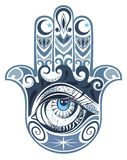 Hamsa hand of Fatima stock illustration