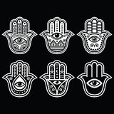 Hamsa hand, Hand of Fatima - amulet, symbol of protection from devil eye Stock Photo