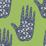Hamsa Hand Pattern Stock Photography
