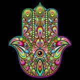 Hamsa Hand Psychedelic Art Stock Photo