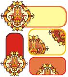 Hamsa hand set Stock Photography