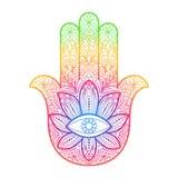 Hamsa-Hand von Fatima Amulet Stockbilder