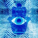 Hamsa-Hintergrund Lizenzfreie Stockbilder
