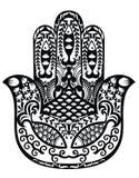 Hamsa, mano de Fátima, ejemplo del vector Imágenes de archivo libres de regalías