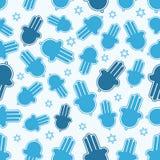 Hamsahand en Jodenster naadloos patroon. Stock Afbeelding