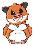 Hamster angry frown. Brown hamster angry frown and stand stock illustration