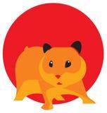 Hamster bonito do vetor Foto de Stock