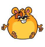 Hamster  character cartoon illustration Royalty Free Stock Image
